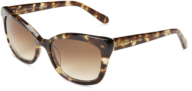 e594ef3b1a02 Kate Spade Women's Amaras Cat-Eye Sunglasses,Tortoise,55 mm: Amazon.in:  Clothing & Accessories