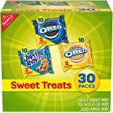 Nabisco Sweet Treats Cookies Variety Pack OREO, OREO Golden & CHIPS AHOY!, 30 Snack Packs ( 2 Cookies Per Pack)