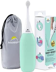 HAPPYPO Bidé portátil (Menta) – bidé alternativo y ducha femenina- Para una limpieza y un bienestar óptimos - No requiere baterías - con bolsa de viaje - Delicado con la piel irritada