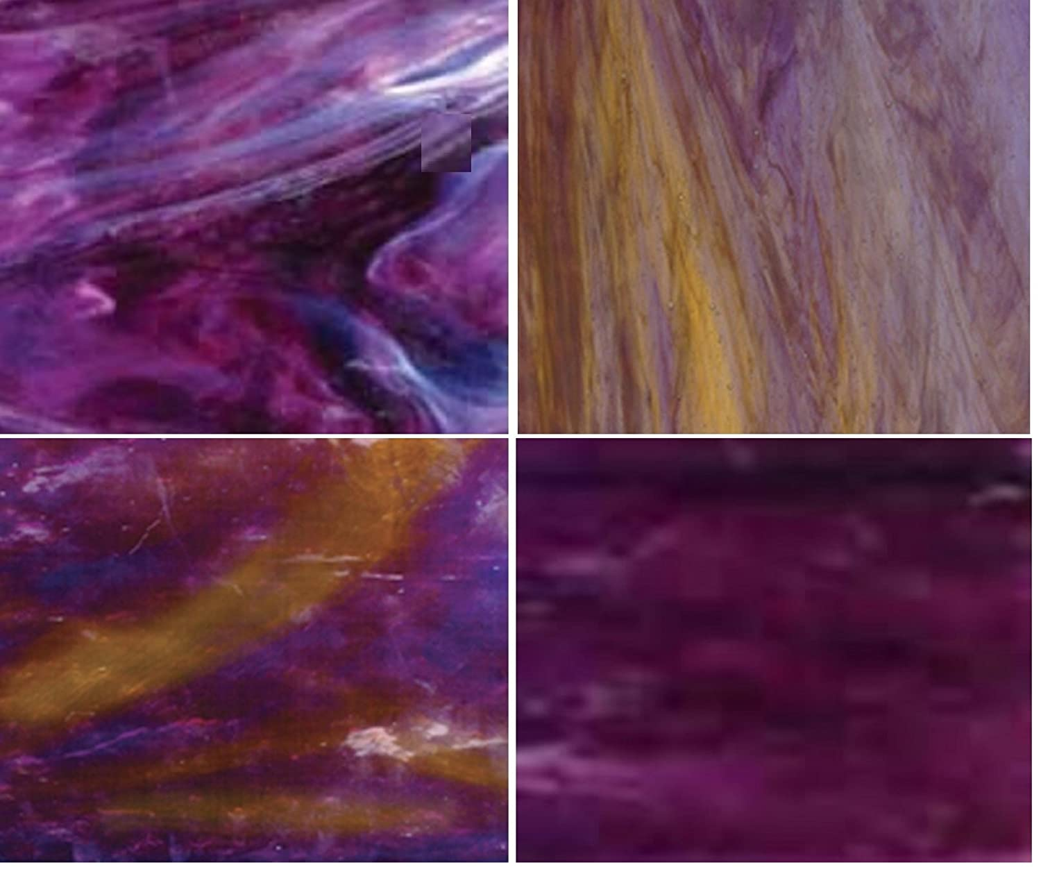 Wissmach Stained Glass Sheet Pack - Purple : Season Colors Wissmach Glass