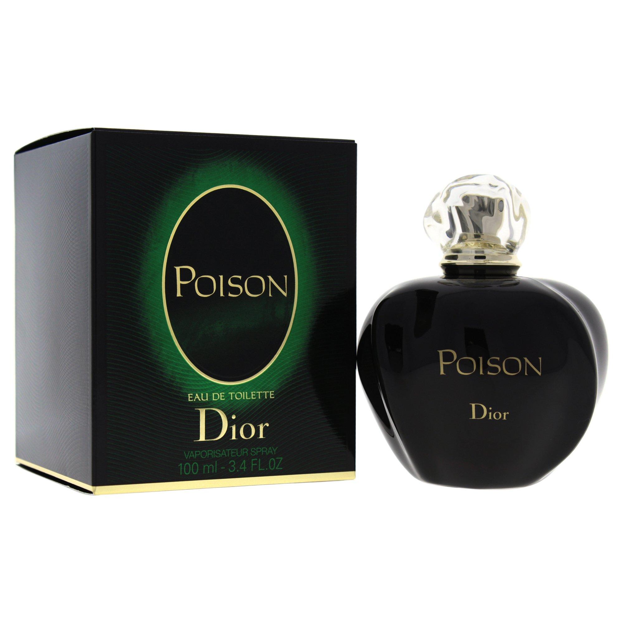 Christian Dior Poison Eau De Toilette Spray for Women, 3.4 Ounce
