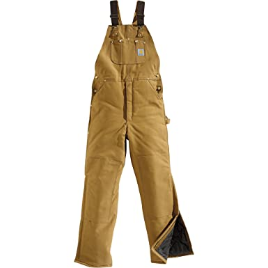 order online shop for original purchase genuine Amazon.com: Carhartt Duck Bib Overall - Arctic-Quilt Lined ...