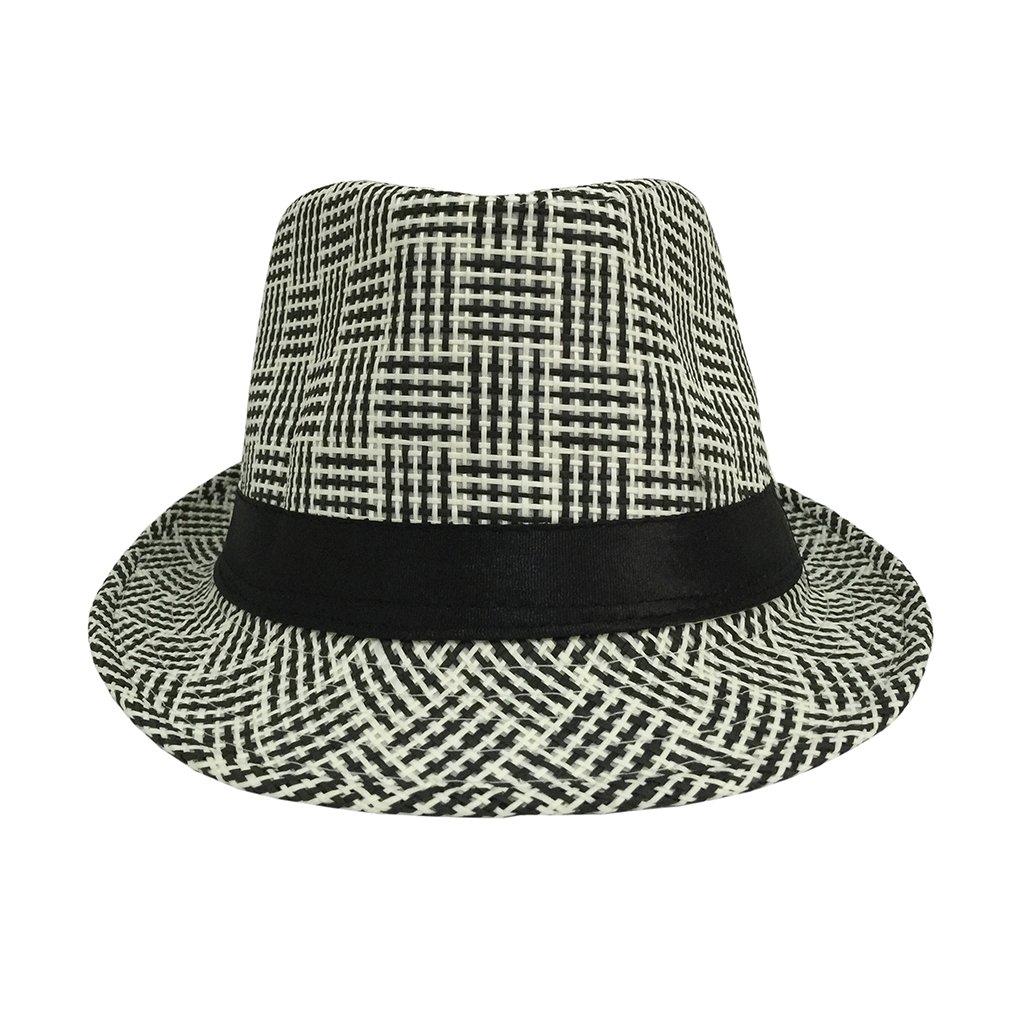 cb57db2fe84 COMVIP Adult Child Gangster Cap Fedora Panama Beach Sun pp Straw Hat  product image