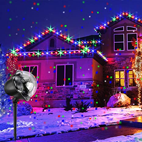 Christmas Projection Lights.Christmas Projector Lights Boswee Rotating Ip65 Waterproof Sparkling Landscape Projection Light For Decoration Lighting With Remote Control It Is