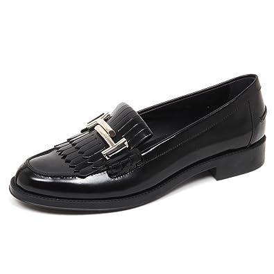 Black Loafer Mocassino Scarpe Doppia Tod's E5160 Donna Frangia T qH6wtZ
