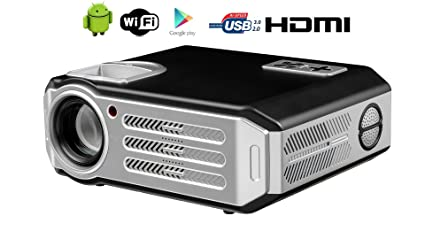 Wifi proyector, FR S82 A Full HD 1080p 4800 lúmenes LED Projector ...
