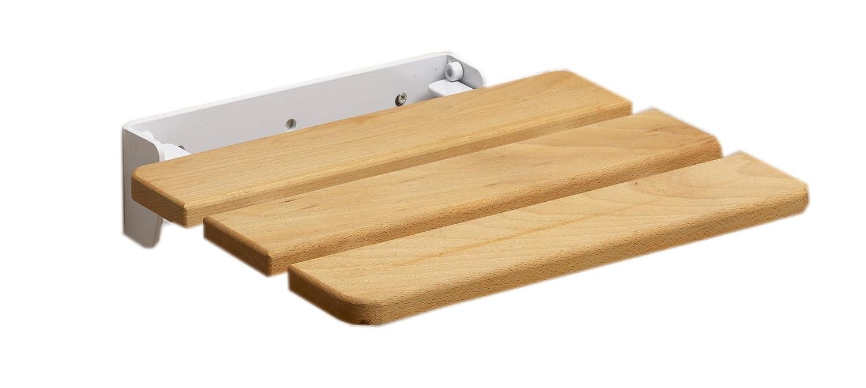 Riviera Klapp-Duschsitz für die Wandmontage Holz: Amazon.de ... | {Duschhocker holz 46}