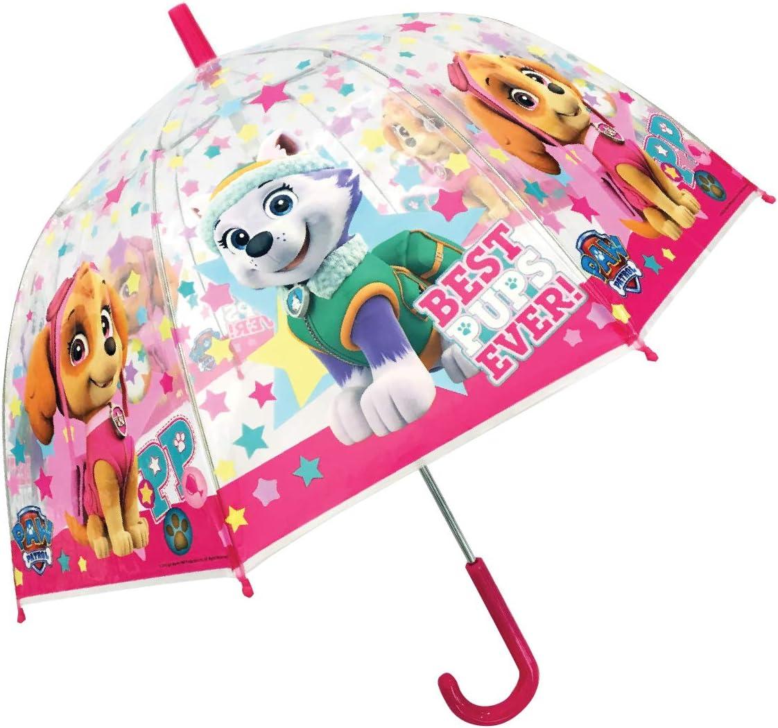 Paw Patrol Skye und Everest M/ädchen Stock-Schirm Regenschirm Kuppelschirm