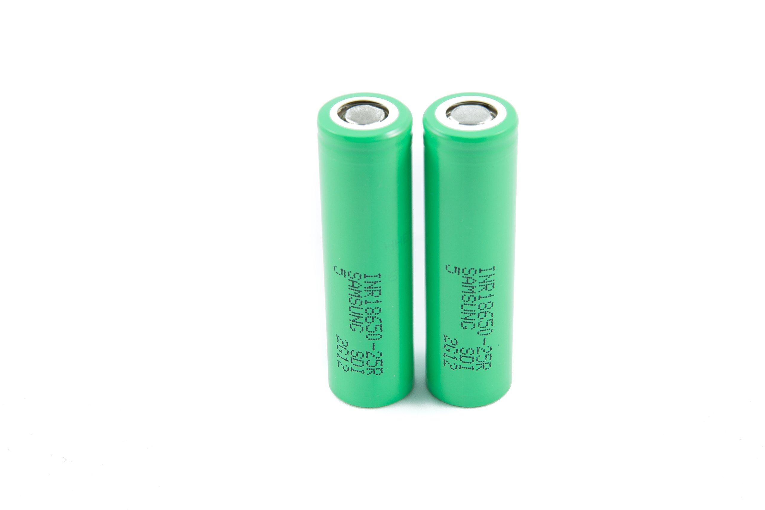 2pcs Samsung INR18650-25R 18650 2500mAh 3.7v Li-ion 20A discharge Authentic Grade-A Guarantee by CTINAW HOBBY (Image #2)