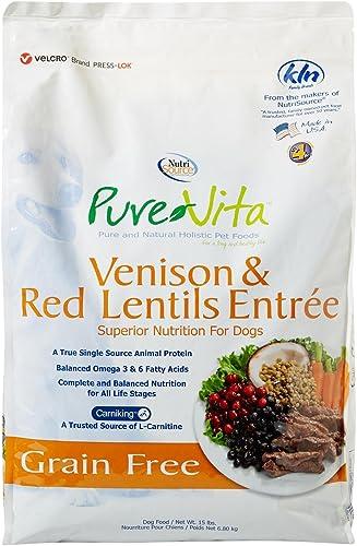 Purevita Grain Free Venison Dog Food 15Lb