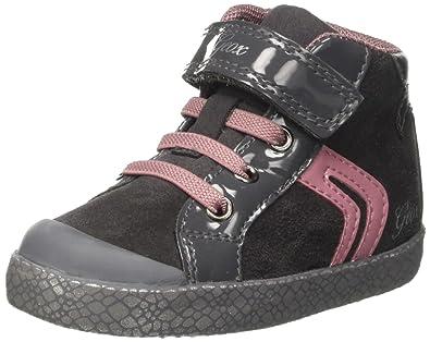 Geox - B Kilwi Girl - Sneakers Basses Bébé - Fille - Gris (Dk Grey ... 04523235412a