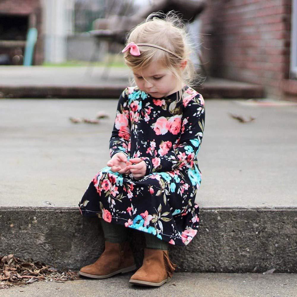 Memela Baby Clothes,Winter Toddler Girl Clothes Cotton Long Sleeve Girls Dresses Kids