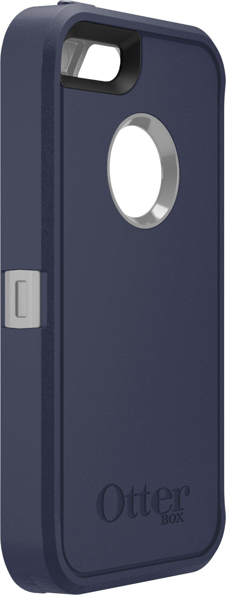 OtterBox DEFENDER SERIES Case for iPhone 5/5s/SE - Retail Packaging - MARINE (GUNMETAL GREY/ADMIRAL BLUE)