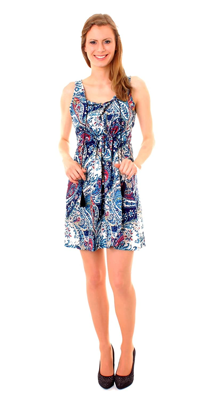 Damen Sommerkleid Trägerkleid Minikleid Sommer-Tunika ...