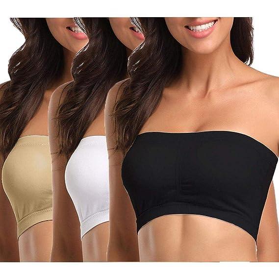 d8592136ea Rapid Women s Cotton and Spandex Tube Sports Bra (Multicolour
