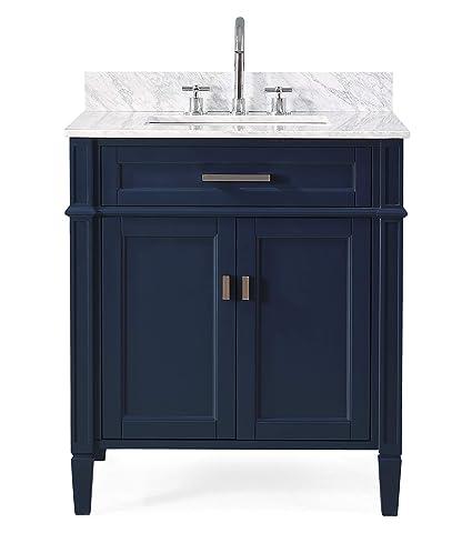 Complete Bathroom Vanity Sets.Amazon Com 30 Durand Modern Contemporary Navy Blue