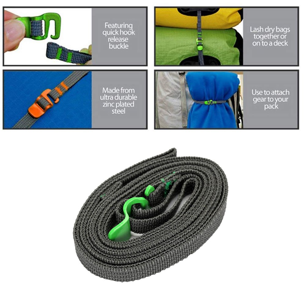 2M Travel Camping Luggage Strapping Cord Quick Release Baggage Bundle Tied Rope