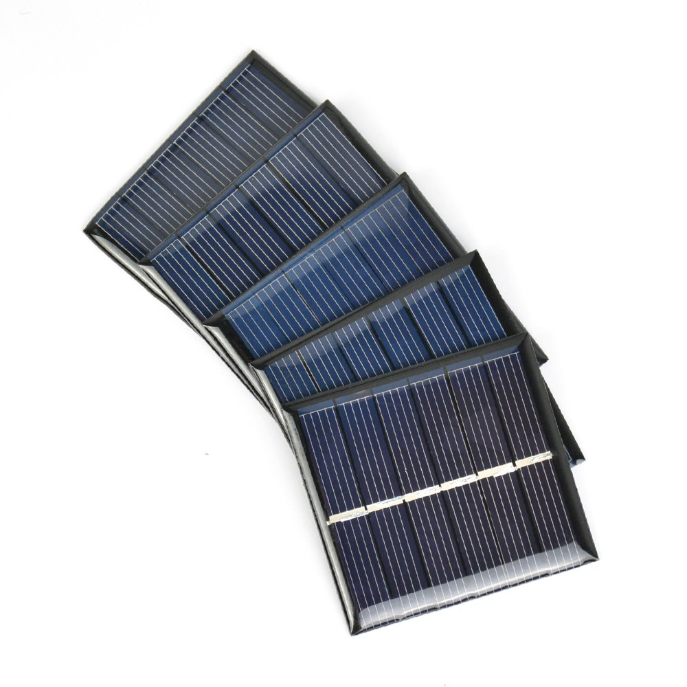 AOSHIKE 10Pcs 3V 120mA Micro Solar Panels Solar Cells Diy Solar Epoxy Plate Electric Toy Materials photovoltaic cells Charger 60x55mm(3V 120MA 60x55MM)