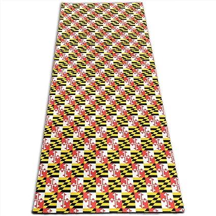 Amazon.com: Maryland State Flag Pattern Printed Yoga Mat ...