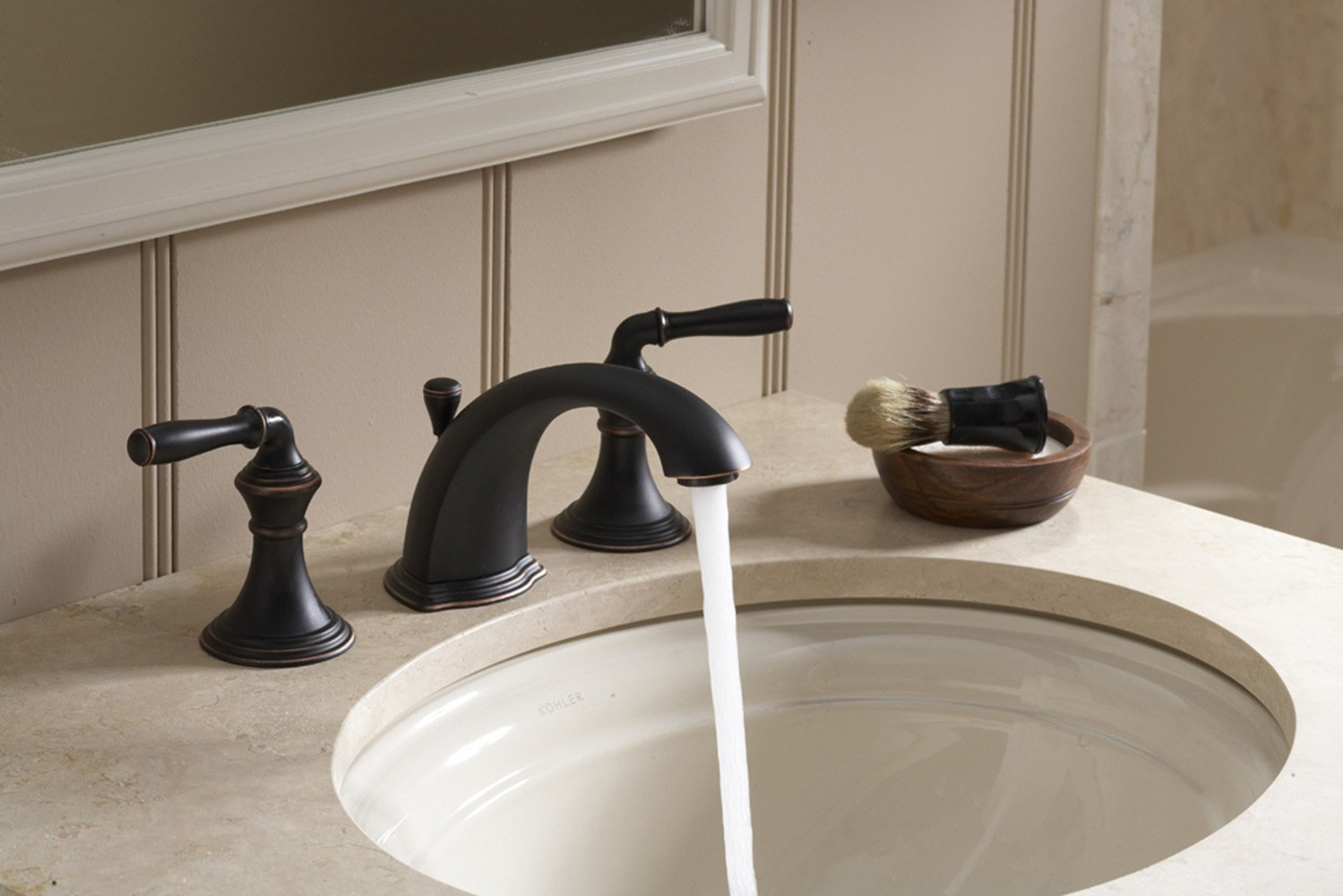 KOHLER K 394 4 SN Devonshire Widespread Bathroom Sink Faucet, Vibrant  Polished Nickel     Amazon.com