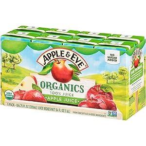 Apple & Eve Organics, Apple Juice, 6.75 Fluid-oz, 8 Count