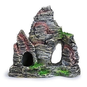 Montaña Artificial para Acuario Piedra Decorativa Decoración para Acuario Pecera: Amazon.es: Jardín