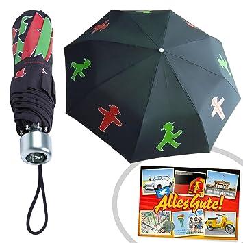 Regenschirm Taschenschirm Ampelmännchen Inkl Ddr Geschenkkarte Ostprodukte Ideal Für Jedes Ddr Geschenkset Ddr Geschenk