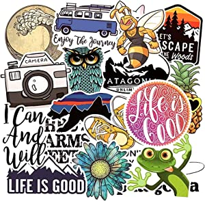 Adventure Landscape Stickers Pack 19 Pcs Suitcase Cute Aesthetic Animal Stickers Vinyl Decals for Teens Girls Laptop Bumper Helmet Ipad Car Luggage Water Bottle