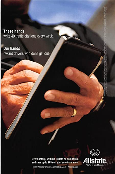Amazon com: Print Ad 2003 Allstate these hands write 40