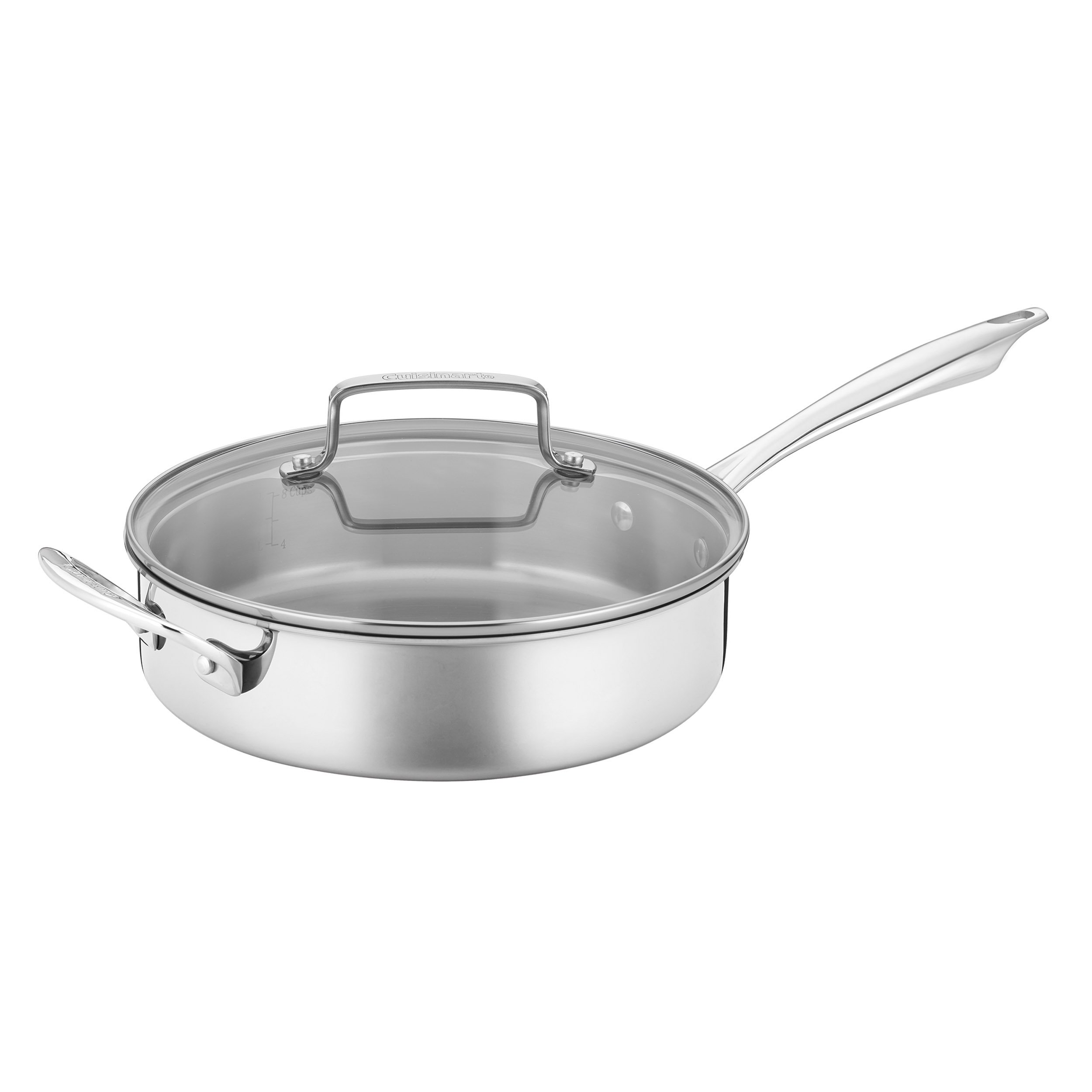 Cuisinart TPS-10 10 Piece Tri-ply Stainless Steel Cookware Set, PC, Silver by Cuisinart (Image #5)
