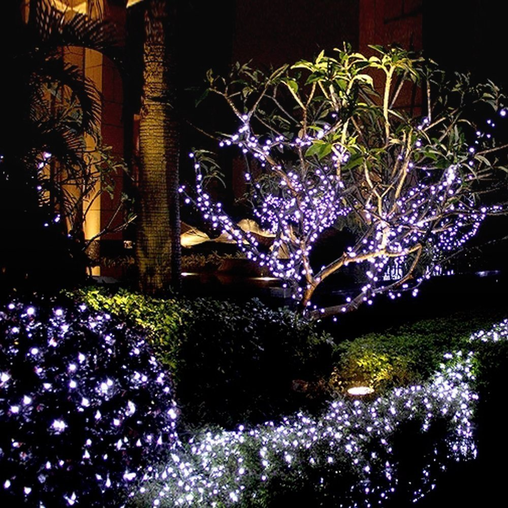 Hds tek hds led w decorative solar powered christmas lights 200 led hds tek hds led w decorative solar powered christmas lights 200 led string light for garden lawn patio xmas tree wedding party outside holiday mozeypictures Gallery