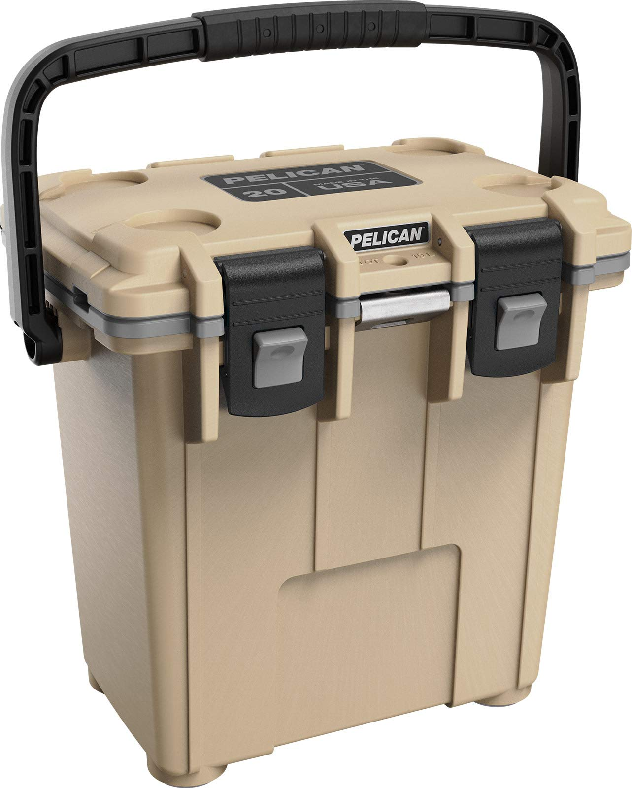 Pelican Elite 20 Quart Cooler (Coyote/Dark Grey)