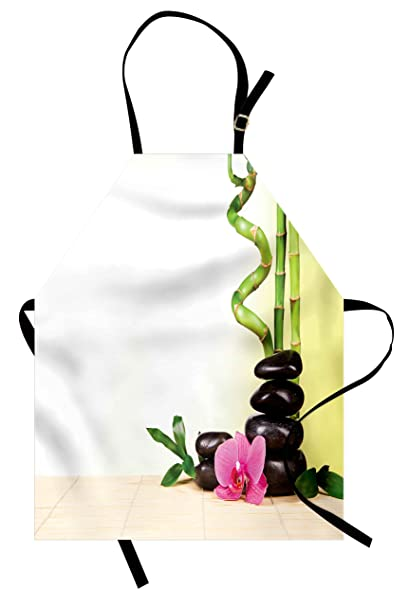 Amazon Ambesonne Spa Apron Calm Life Theme With Relax Symbol