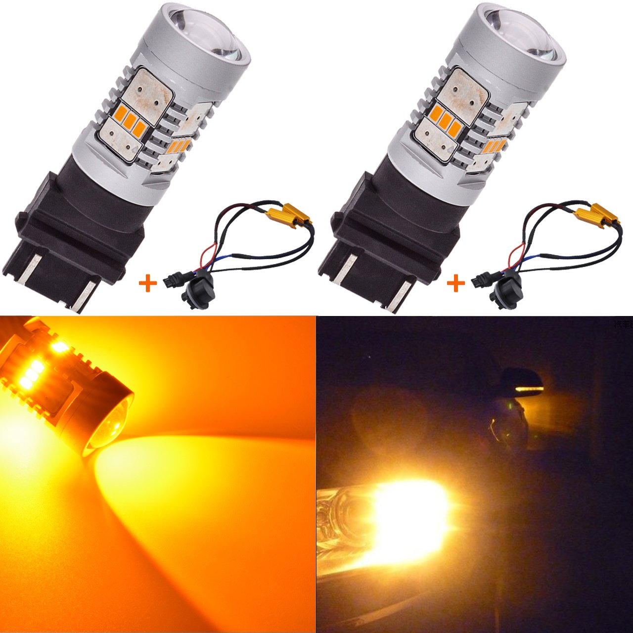 KaTur 1800LM White 1156 BA15S 1141 7506 LED Replacement Bulb 14SMD CREE 3020 RV Camper SUV MPV Car Turn Signal Bulbs Tail Brake Light Lamp Backup Lamps Pack of 2