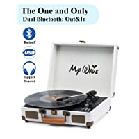 Deals on MyWave Bluetooth Wireless Turntable Portable Record Player