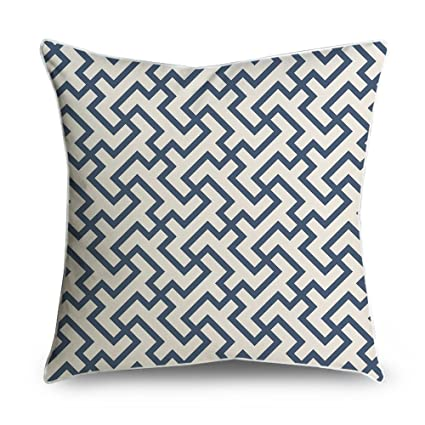 Amazon FabricMCC Throw Pillow Cover Greek Geometric Pattern Extraordinary Geometric Pattern Decorative Pillows