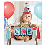 Amscan International Amscan 242597 Decoration High Chair Dec Kit 1 Pack Ahoy Birthday