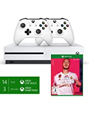 Microsoft Xbox One S 1TB Konsole - Bundle inkl. 2 x Controller + 3 Monate Gamepass + 14 Tage Xbox Live Gold + FIFA 20 - Standard Edition - [Xbox One]