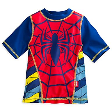36ab64a10cd Amazon.com  Marvel Spider-Man Rash Guard for Boys Red  Clothing