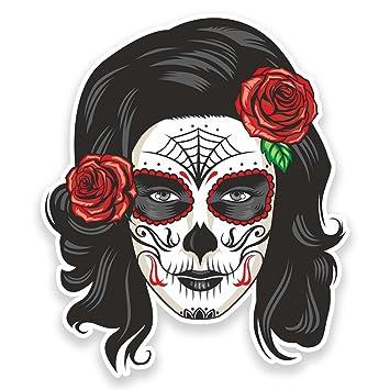 6 x Sugar Skull Day of the Dead Sticker Car Bike iPad Laptop Girls Art Fun #4175
