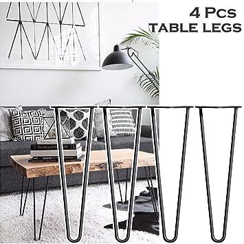 4 PCS 40,6 Cm Tisch Beine Bis Mitte Des Jahrhunderts Modern Style Premium  Stahl