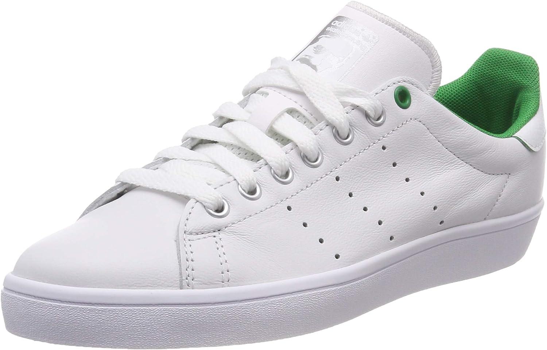 adidas D68843 Stan Smith Vulc - Zapatillas Deportivas para Mujer, Mujer, D68843, White/Green, Size UK 9.5: Amazon.es: Deportes y aire libre