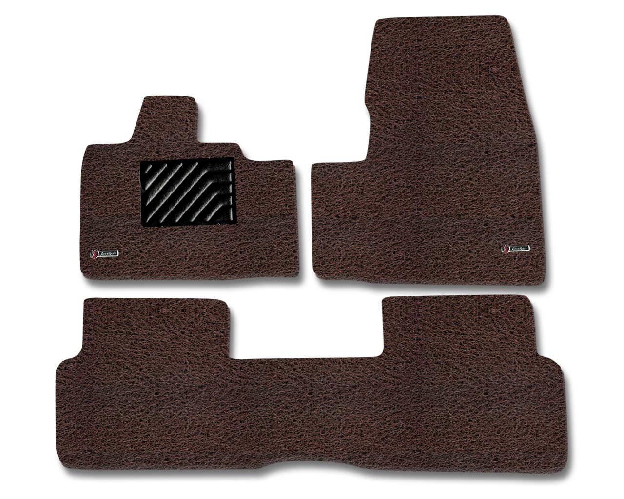 Tan /& Brown Broadfeet Custom Floor Liners for 2014-2016 BMW i3 All Weather Custom Carpet 3 Pieces