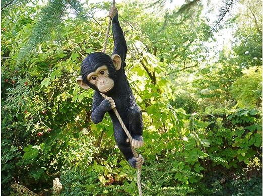 Adorno de jardín de Mono Escalador de Resina para árbol de Navidad, 55 cm de Alto x 23 cm de Ancho x 15 cm de Profundidad: Amazon.es: Jardín
