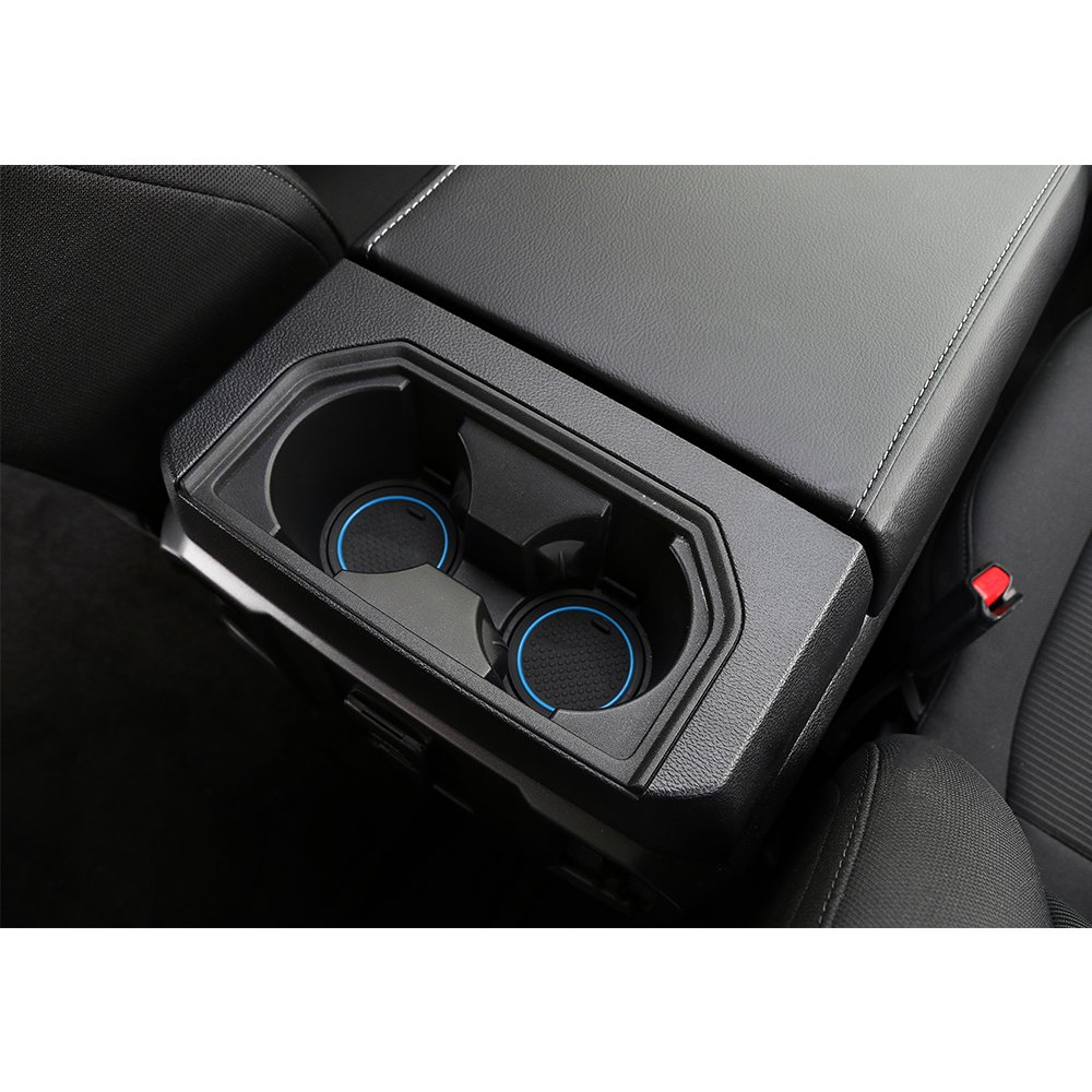 Red Anti-dust Non-Slip Interior Door Cup Arm Box Storage Mat t for Ford F150 2016 2017