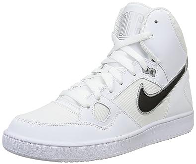 ee10d0ee2ea484 Nike Herren Son of Force Mid Basketballschuhe Weiß (White Black-Metallic  Silver)