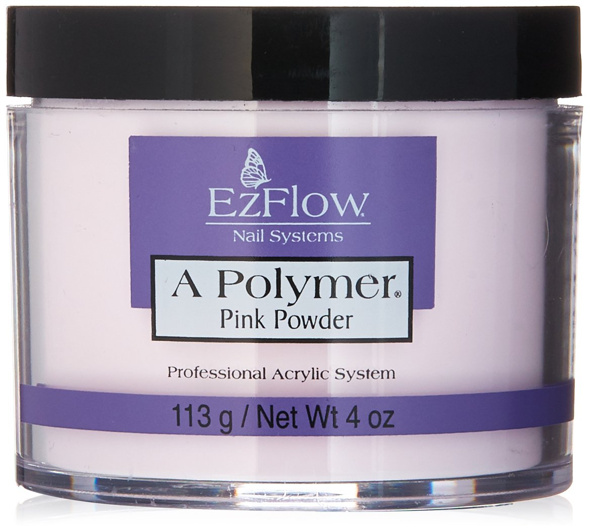 EZ FLOW A Polymer False Nails, Pink, 4 Ounce EZA4P
