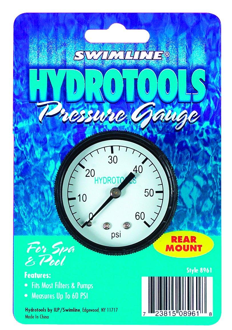 Swimline Rear Mount 60Psi Pool Pressure Gauge