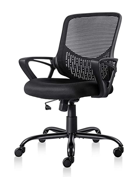Swell Ergonomic Office Chair Lumbar Support Mesh Chair Computer Desk Task Chair With Armrests Dailytribune Chair Design For Home Dailytribuneorg