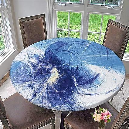 Strange Amazon Com Chateau Easy Care Cloth Tablecloth Blue And Inzonedesignstudio Interior Chair Design Inzonedesignstudiocom
